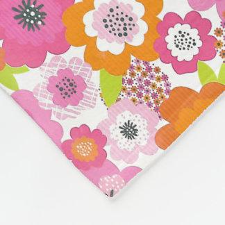 Cute floral Fleece Blanket, Small
