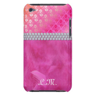 Cute Floral Lace Feather iPod Barely There Cover