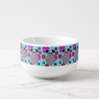 CUTE FLORAL MOUSE PRINT FOR SOUP MUG