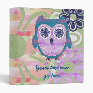 Cute Floral Owl Binders