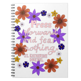 Cute Floral Pastel Typography Motivation Quote Notebook