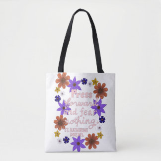 Cute Floral Pastel Typography Motivation Quote Tote Bag