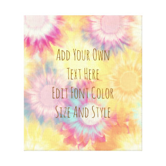 Cute floral personalized quote canvas print