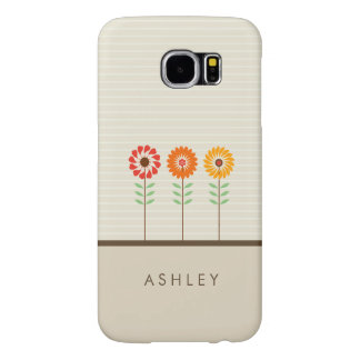 Cute Floral Sun Flowers Pattern - Natural Stylish Samsung Galaxy S6 Cases