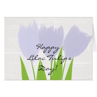 Cute Floral Watercolor Lilac Tulips Card
