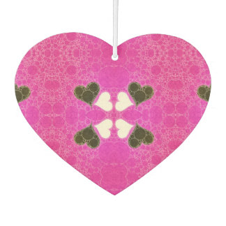 Cute Florescent Pink Heart Abstract Air Freshener
