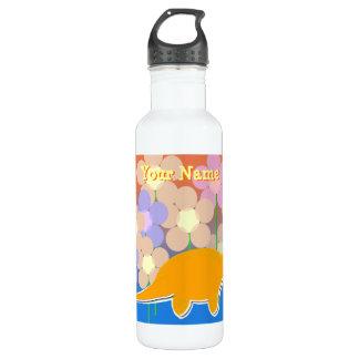 Cute Flower Dinosaur Bottle