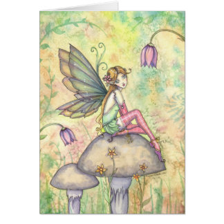 Cute Flower Fairy Card by Molly Harrison
