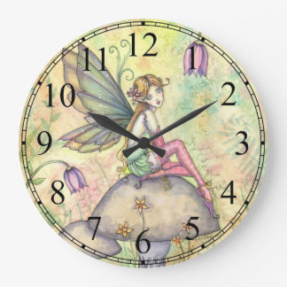 Cute Flower Fairy Fantasy Art Wall Clock