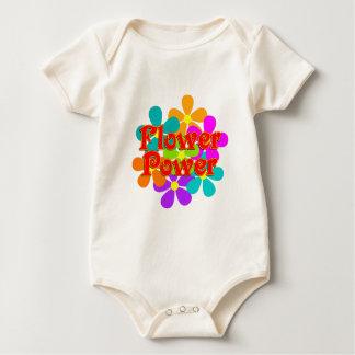 Cute Flower Power Baby Bodysuit