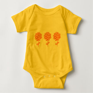 Cute flowers baby bodysuit