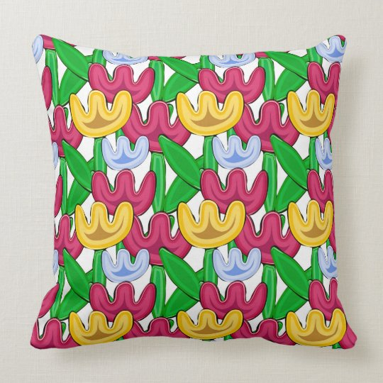 Cute flowers graphic design throw pillow