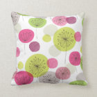 Cute flowers retro abstract pattern design throw pillow