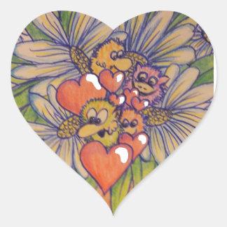 Cute flowers troll sticker