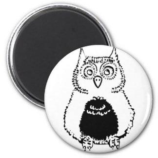 Cute Fluffly Owl Magnet