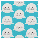 Cute fluffy baby seal fabric