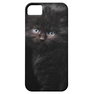 Cute Fluffy Black Cat Mobile Phone Case