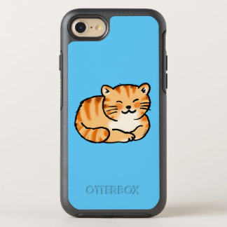cute fluffy ginger and white cat OtterBox symmetry iPhone 8/7 case