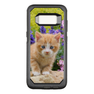 Cute Fluffy Ginger Baby Cat Kitten in Flowers Pet OtterBox Commuter Samsung Galaxy S8 Case