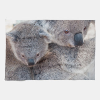 Cute Fluffy Grey Koalas Kitchen Towel