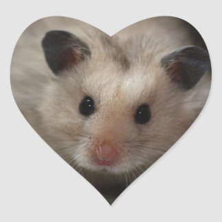 Cute Fluffy Hamster Heart Sticker
