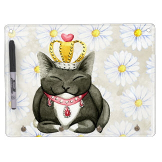 Cute Fluffy Kitten Dry Erase Board With Keychain Holder