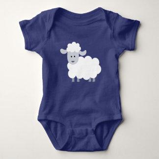 Cute Fluffy Lamb Baby Baby Bodysuit