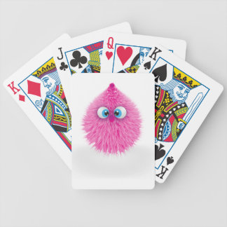 Cute Fluffy Pink Monster Bicycle Playing Cards