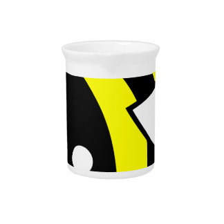 Cute flying bumblebee beverage pitcher