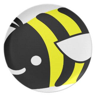 Cute flying bumblebee dinner plates