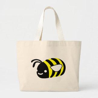 Cute flying bumblebee large tote bag