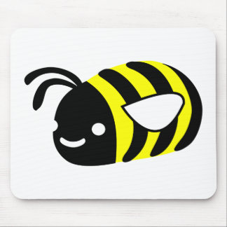 Cute flying bumblebee mouse pad