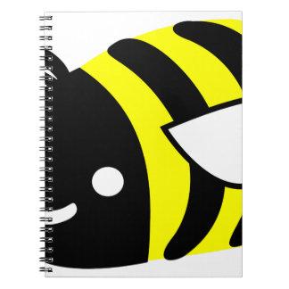 Cute flying bumblebee notebook