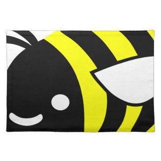 Cute flying bumblebee placemat