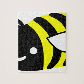 Cute flying bumblebee puzzle