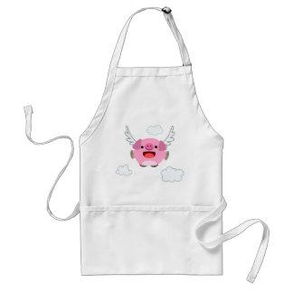 Cute Flying Cartoon Pig Standard Apron