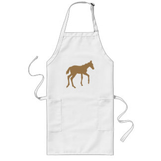 Cute foal horse long apron