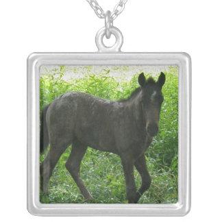 Cute Foal Sterling Silver Necklace