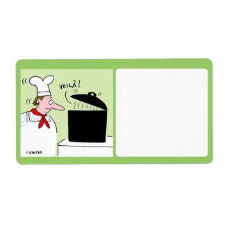 Cute Food Storage Label