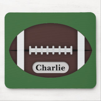 Cute Football with Customizable Name Mouse Pad