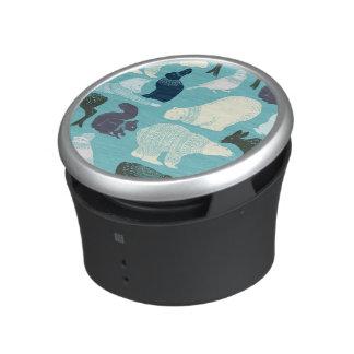 Cute Forest Animals Pattern Bluetooth Speaker