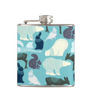 Cute Forest Animals Pattern Flasks