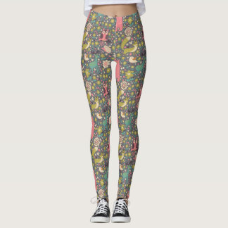 Cute Forest Animals Pattern Leggings