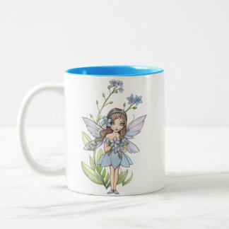Cute Forget Me Not Flower Fairy Mug