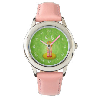 Cute Forget Me Not Girl Flower Bouquet With Name Watch