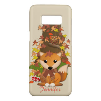 Cute fox and owl in autumn Case-Mate samsung galaxy s8 case