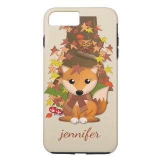 Cute fox and owl in autumn iPhone 8 plus/7 plus case