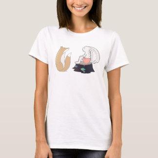 Cute Fox and Rabbit Illustration T-Shirt