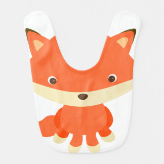 Cute Fox Animal Baby Bib