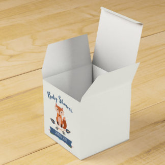 Cute Fox Arrows Baby Shower Favor Box